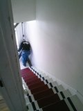 went up this stairwell...